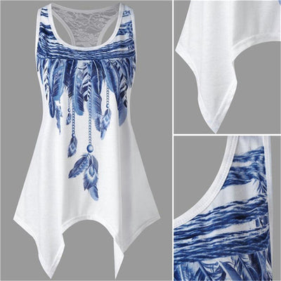 Feather Printed Tank Top *FREE SHIPPING*