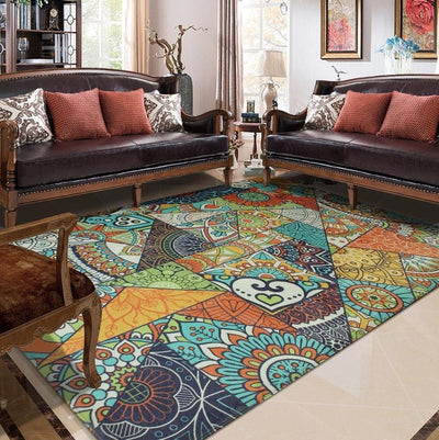 Ethnic Multi-Color Area Mat *CUSTOM MADE-SHIPS ONLY TO USA*