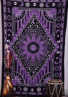 Bohemian Hippy Celestial Moon And Sun Tapestry *FREE SHIPPING*