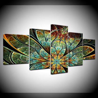 Fractal Flower 5 Panel Canvas *FREE SHIPPING*