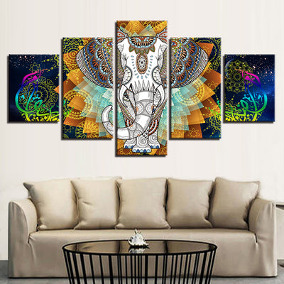 Indian Elephant 5 Panel Wall Decor *FREE SHIPPING*
