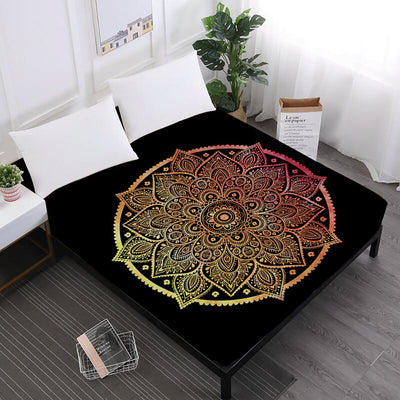 Bohemian Colorful Elephant Mandala Fitted Sheet *FREE SHIPPING*
