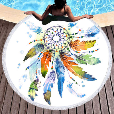 Watercolor Dreamcatcher Beach Towel *FREE SHIPPING*