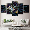 Embelish 5 Panel Abstract Canvas