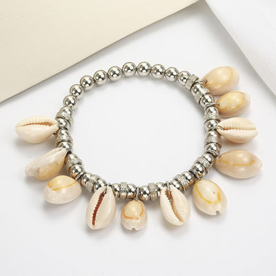 Bohemian Shell Stretch Anklet *FREE WORLDWIDE SHIPPING*