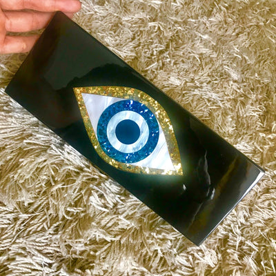 Glitter Evil Eye Clutch Bag *FREE WORLDWIDE DELIVERY*