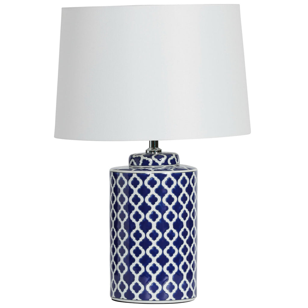 Navy Lattice Lamp