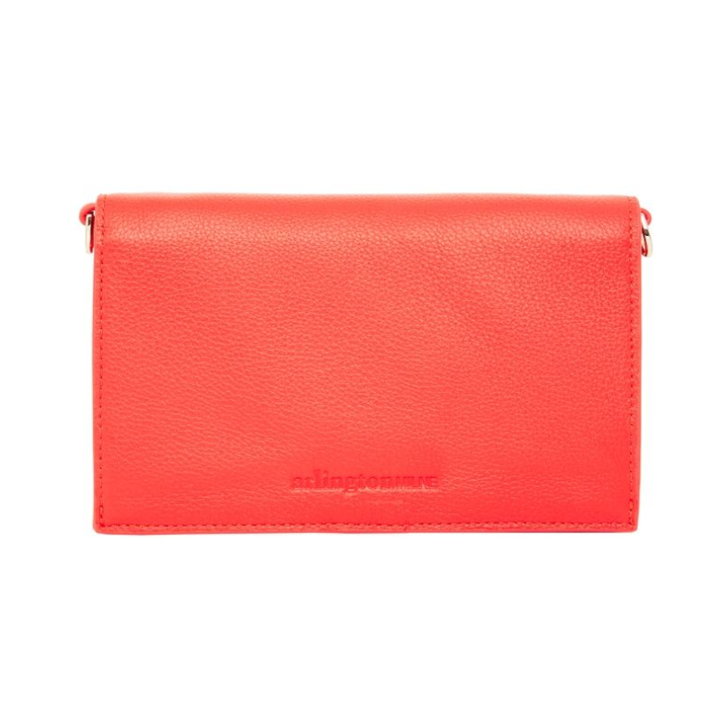 Leather Soft Body Fold Style Wallet - Tangerine