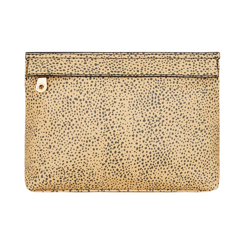 Fold Over Clutch in Cheetah