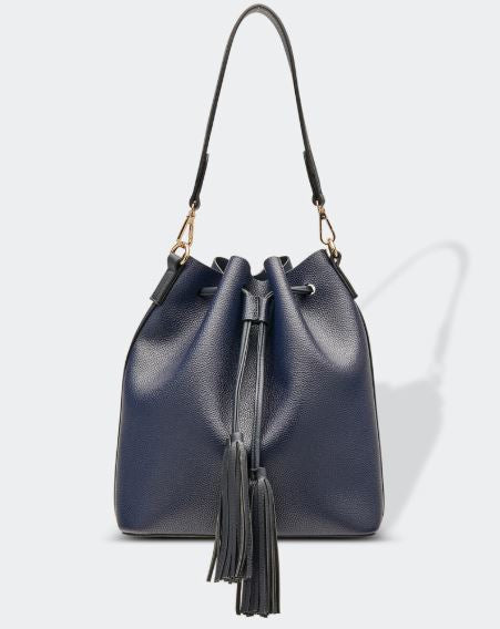 Drawstring Bag in Navy