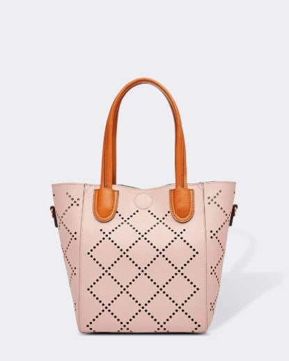 Diamond Laser Cut Bag in Pink