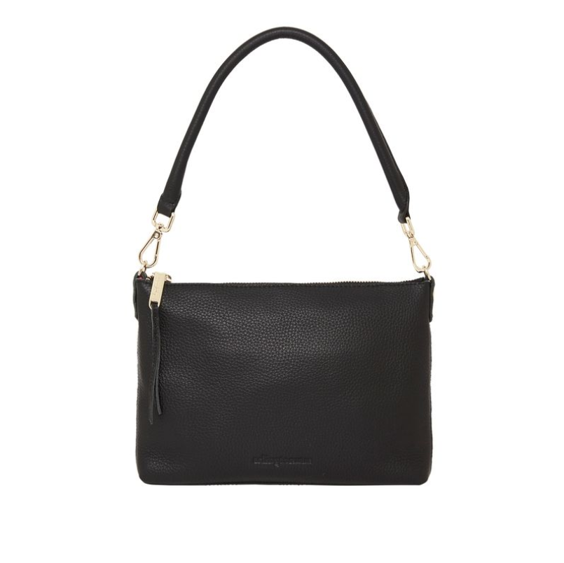 Versatile Baby Handbag in Black Leather