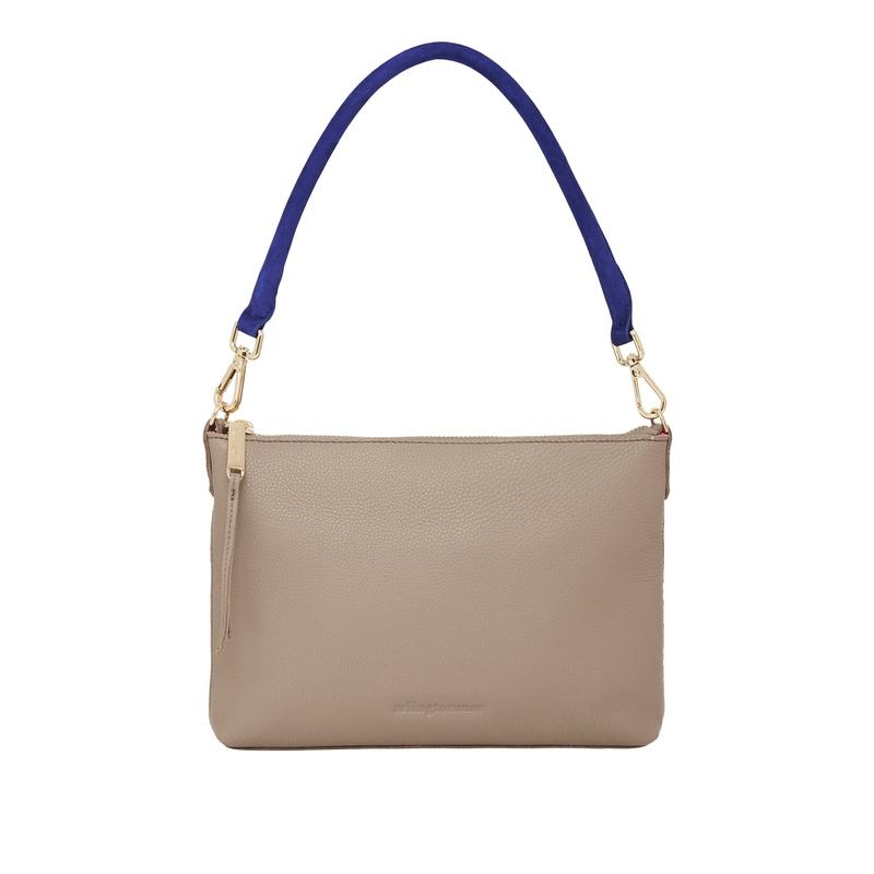 Versatile Baby Handbag in Putty Leather