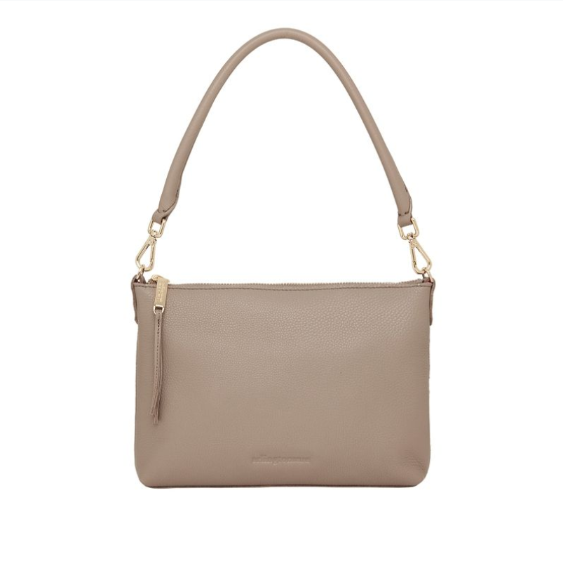 Versatile Handbag in Putty Leather