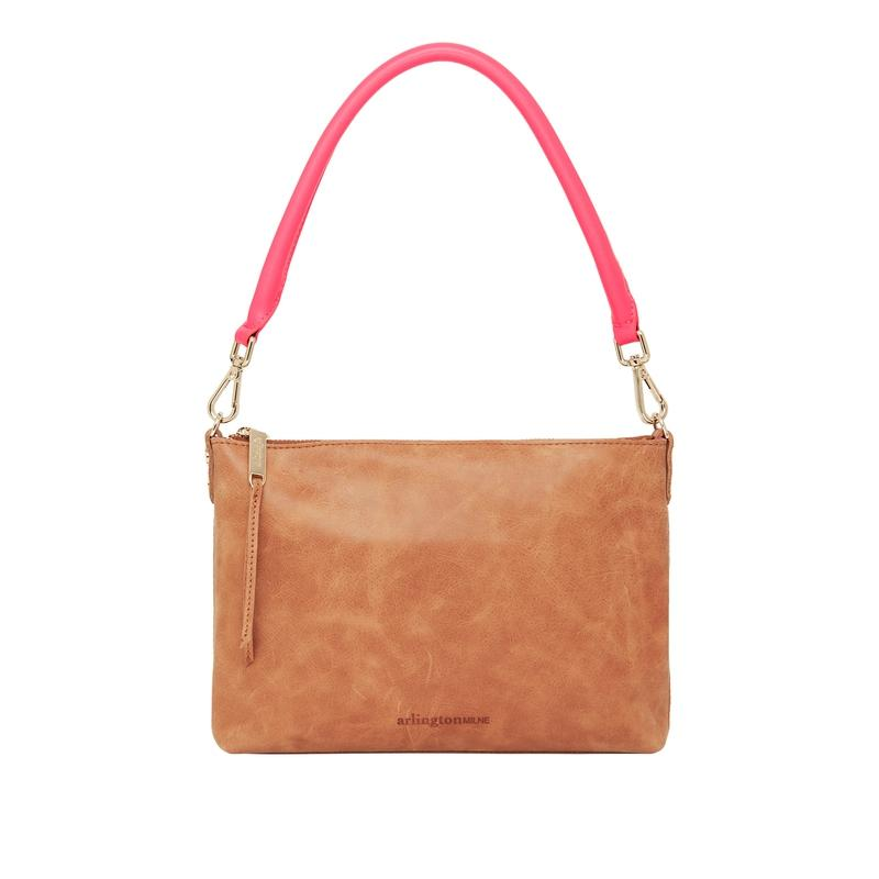 Versatile Baby Handbag in Tan Leather