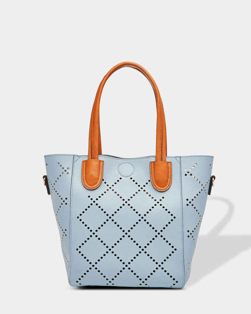 Diamond Cut Bag Dusty Blue