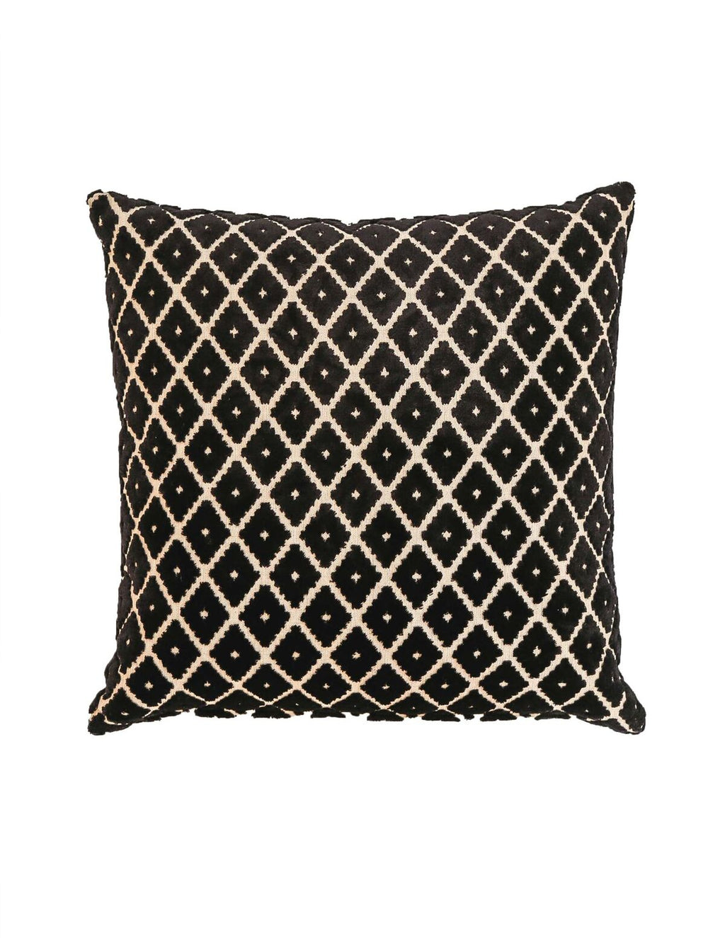 Signature Cushion Black and White Diamond