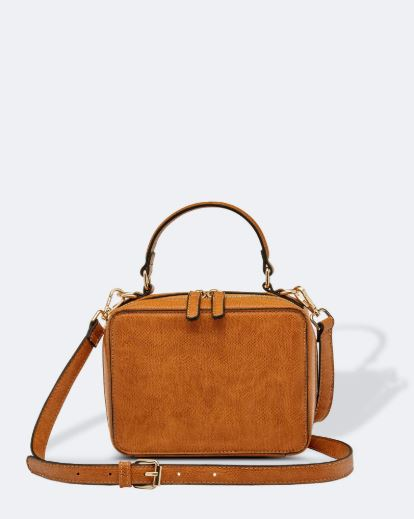 Textured Crossbody Bag in Toffee