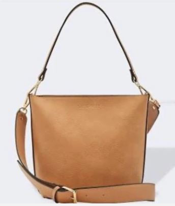 Classic Wide Handle Handbag in Nutmeg