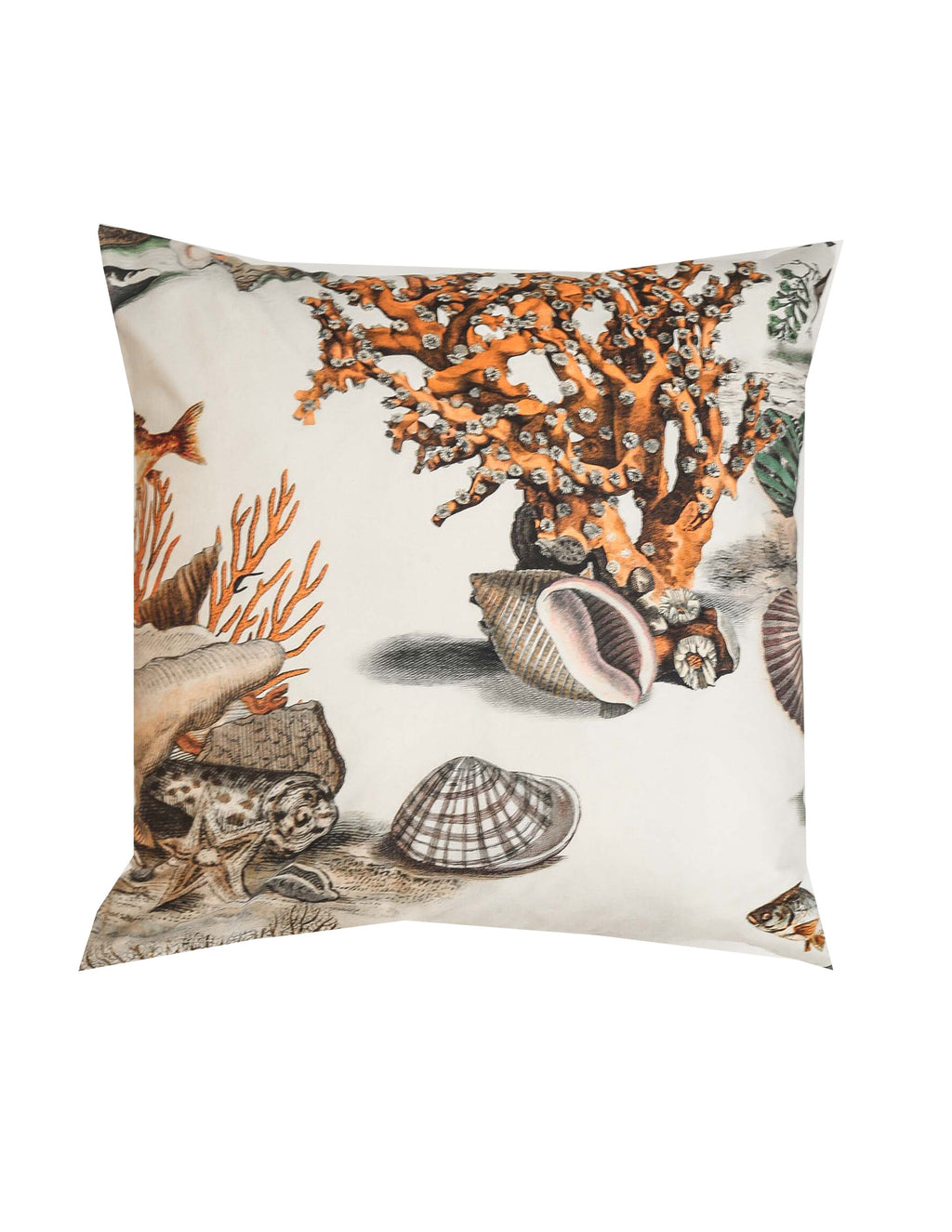 Signature Coral and Shell Cushion