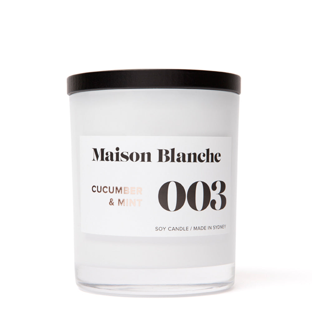 Maison Blanche - Cucumber and Mint Candle