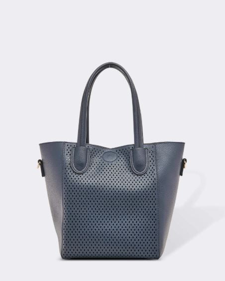 Laser Cut Bag in Navy