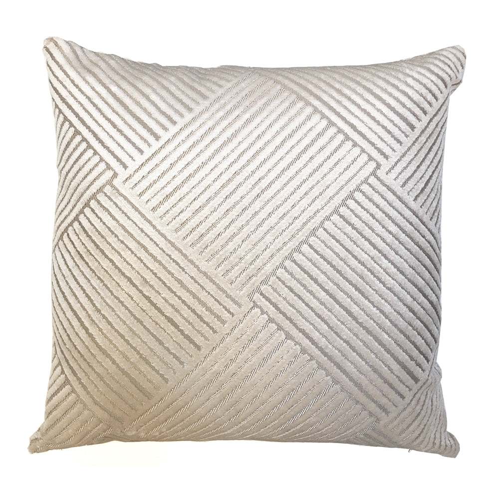 Signature White Line Cushion