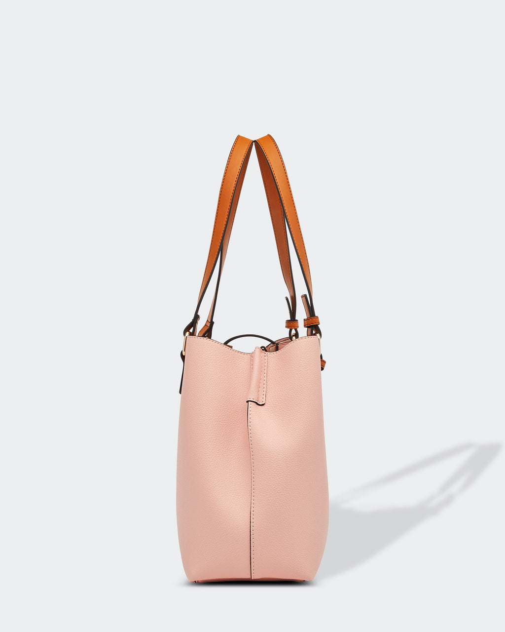 Structured Latch Bag Pale Pink