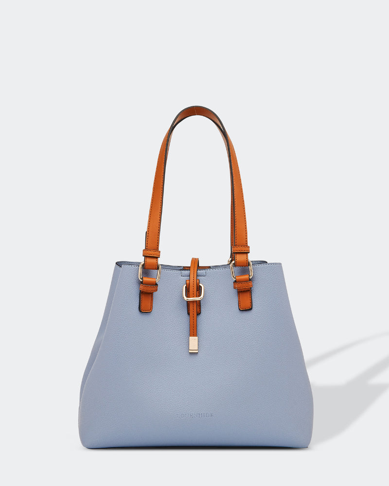 Structured Latch Bag Blue