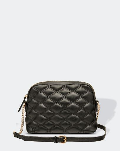 Quilted Crossbody Bag in Black