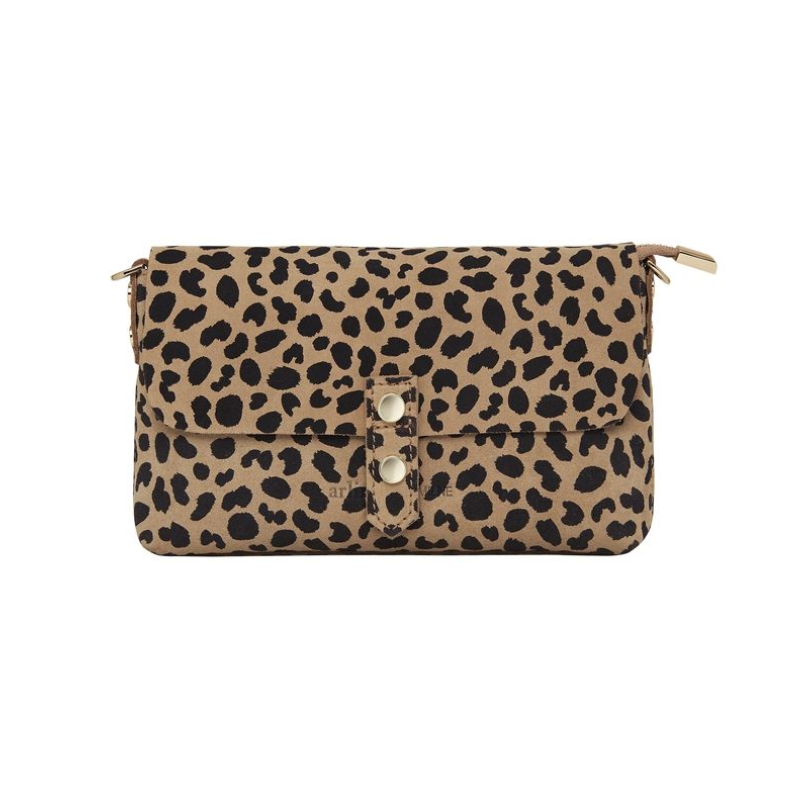 Chain Detail Wallet In Spotty Suede