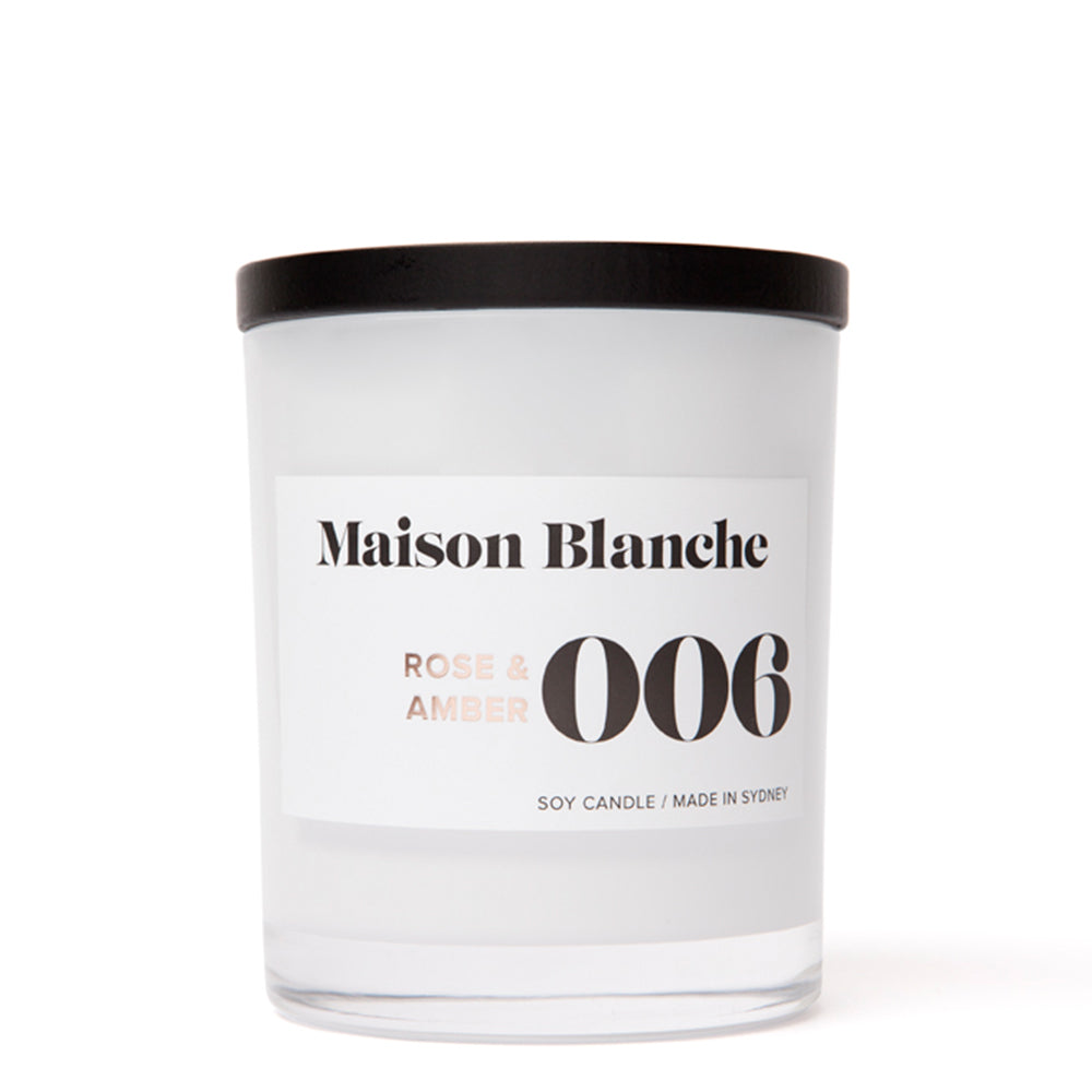 Maison Blanche - Rose & Amber Candle