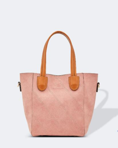 Brushed Suedette Handbag in Blush