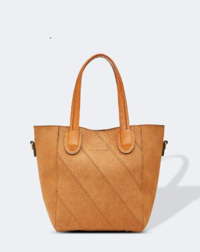 Brushed Suedette Handbag in Tan