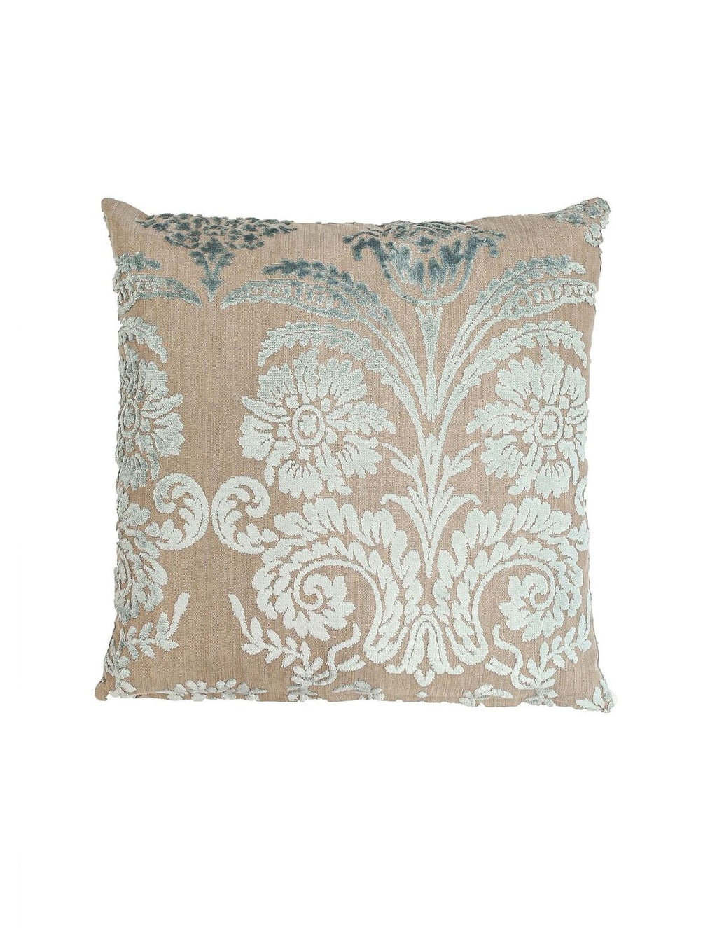 Signature Silver Velvet Cushion