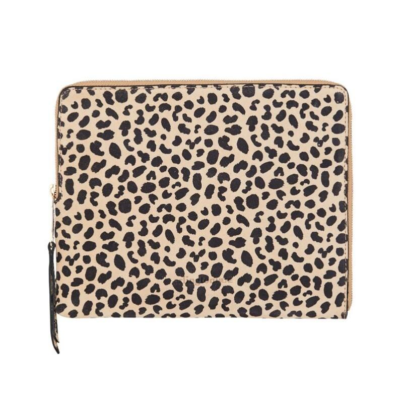 Tech Clutch in Spotted Suede