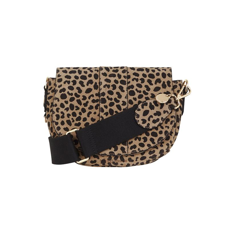 Crossbody Saddle Bag in Spotty Suede