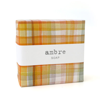 Signature Wrapped Soap - Ambre Gingham