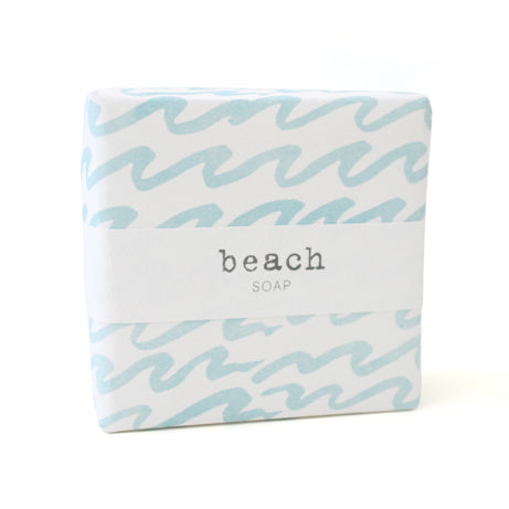 Signature Wrapped Soap - Beach Light Blue Waves