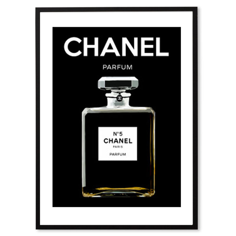 Chanel No. 5 Print - Black