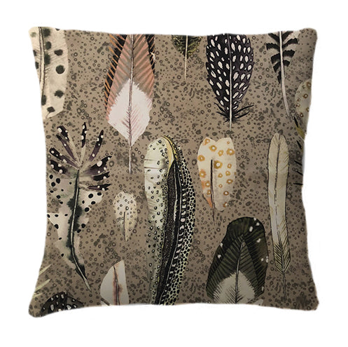 Signature Feathers Brown Cushion
