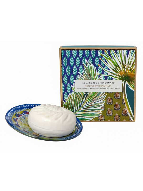 Le Jardin de Fragonard Santal Cardamone Soap and Dish Set