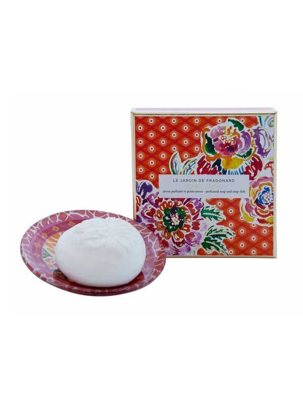 Le Jardin de Fragonard Tilleul Cedrat Soap and Dish Set