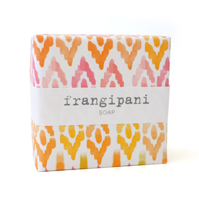 Signature Wrapped Soap - Frangipani Pattern