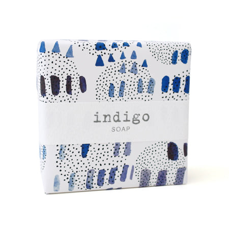 Signature Wrapped Soap - Indigo Blue Specks
