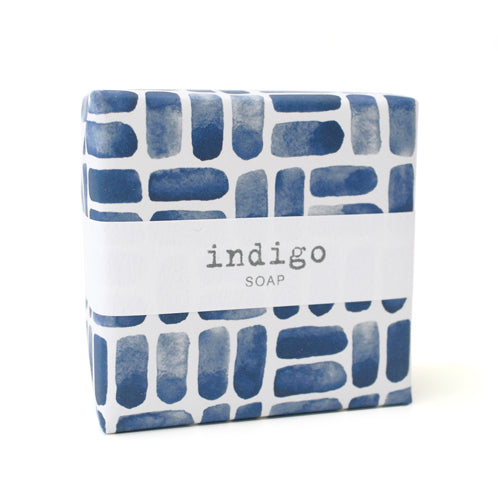Signature Wrapped Soap - Indigo Watercolour