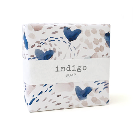 Signature Wrapped Soap - Indigo Heart