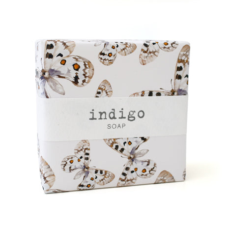 Signature Wrapped Soap - Indigo Butterflies