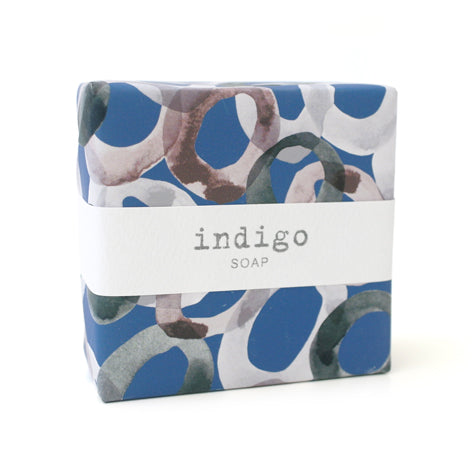 Signature Wrapped Soap - Indigo Circlet