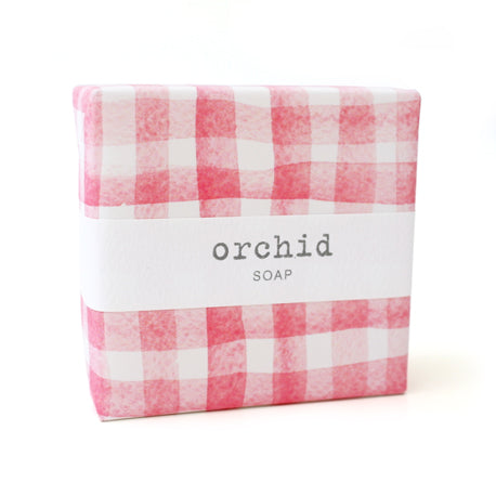 Signature Wrapped Soap - Orchid Gingham